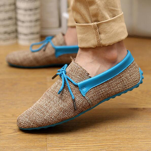 Men's Casual Canvas Driving Loafer Shoes