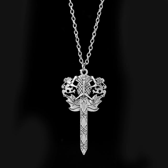 Wholesale 12pcs fashion necklace outlander scottish dragonfly flower wholesale 12pcs fashion necklace outlander scottish dragonfly flower thistle sword lion pendants choker necklace for women aloadofball Images