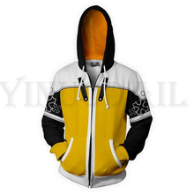Anime Gaming Kingdom Hearts Sweatshirts Men and Women Zipper Hoodies Sora 3d Print Hooded Jacket for Boys Harajuku Streetwear