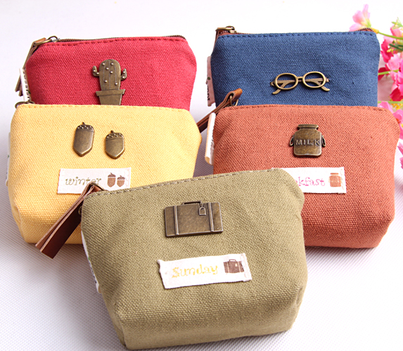 1PC Small Size Colorful Purse Kawaii Women Wallet Coin Bag School Storage Stationery Bags Office Zakka Supplies (ss-1531)
