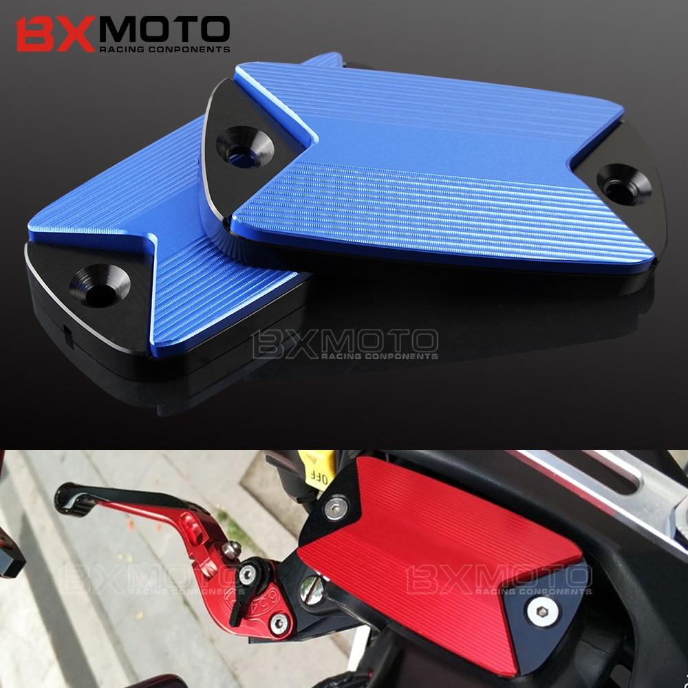 motorcycle Aluminum cnc Front Brake Fluid Reservoir Cover Cap For HONDA VFR 1200X 800 800X 800F VFR1200X VFR800X VFR800F d09 aluminum alloy bicycle cnc front fork washer blue white 28 6mm