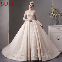 SuLi SL-6068 Full long sleeves ball gown wedding dress 2019