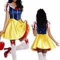 Взрослый Снег Белый Костюм Косплей Фантазия Хэллоуин Костюмы Для Женщин Принцесса Dress Fancy Party Dress