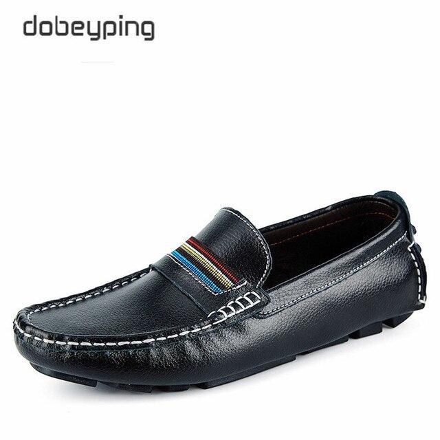 Hombres 2017 Mocasines Genuino De Zapatos Los Alta Calidad Cuero IqRqBzw