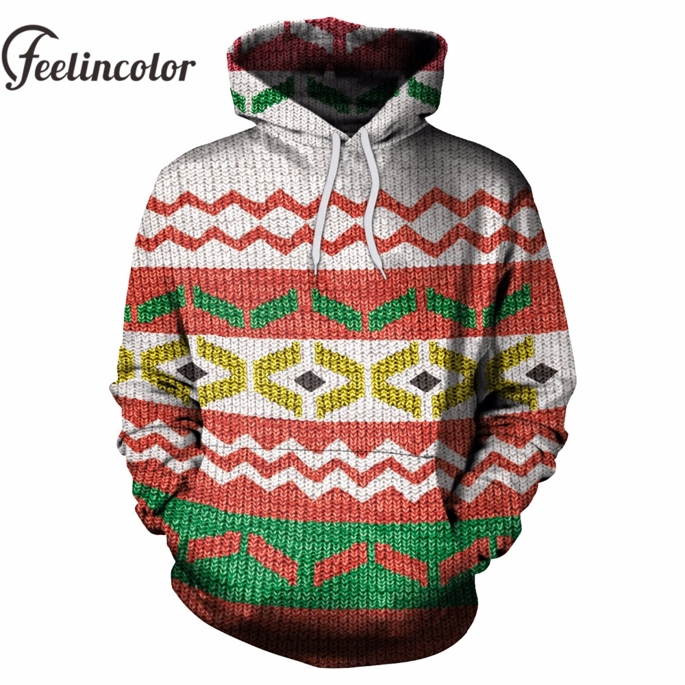 Feelincolor 2018 New Ugly Christmas Hoodies Men/Women 3D Sweatshirt Casual Pullover Santa Tracksuit Hoodies Men Streetwear