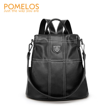 POMELOS Backpack Women High Quality PU Leather Fashion Anti Theft Rucksack Bagpack Travel