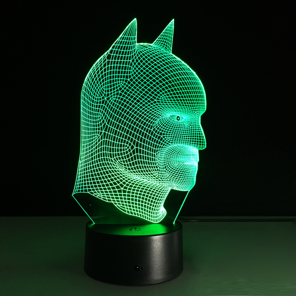 7 Colors Changing 3D Illusion LED Night Light Batman Super Hero Lamp As  Bedroom Besides Lamparas For Children Kids Table Lamp In Night Lights From  Lights ...