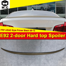 For BMW E92 2-door Hard top M3 style FRP Unpainted Rear Trunk spoiler wing 3 series 330i 335d 335i 325i 06-13