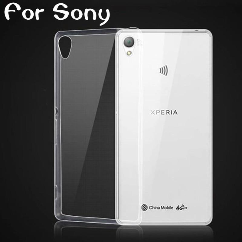 Для Sony Xperia Z z1 z2 z3 Z3 Z4 Z5 Compact m2 M4 M5 C3 C4 C5 L39h E4 прозрачный ясно Мягкий гель ТПУ чехол