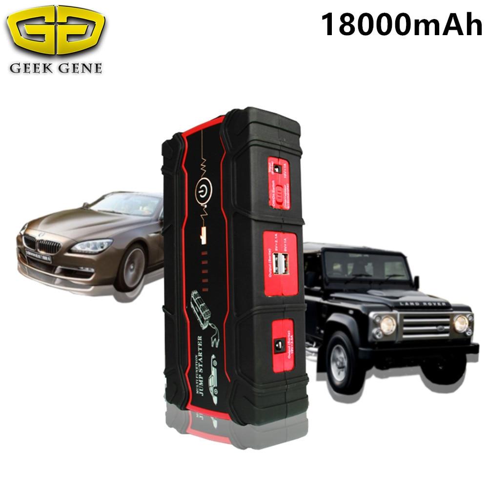 多機能18000 mahカーバッテリースターター800aポータブルライター始動装置12ボルト車の充電器カーバッテリーブースターled  グループ上の 自動車 &バイク からの ジャンプスターター の中 1