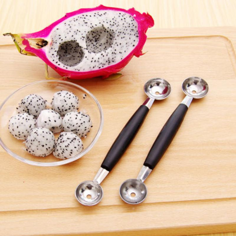 New Brand Stainless Steel Cook Dual Double Melon baller ice cream scoop fruit Sp