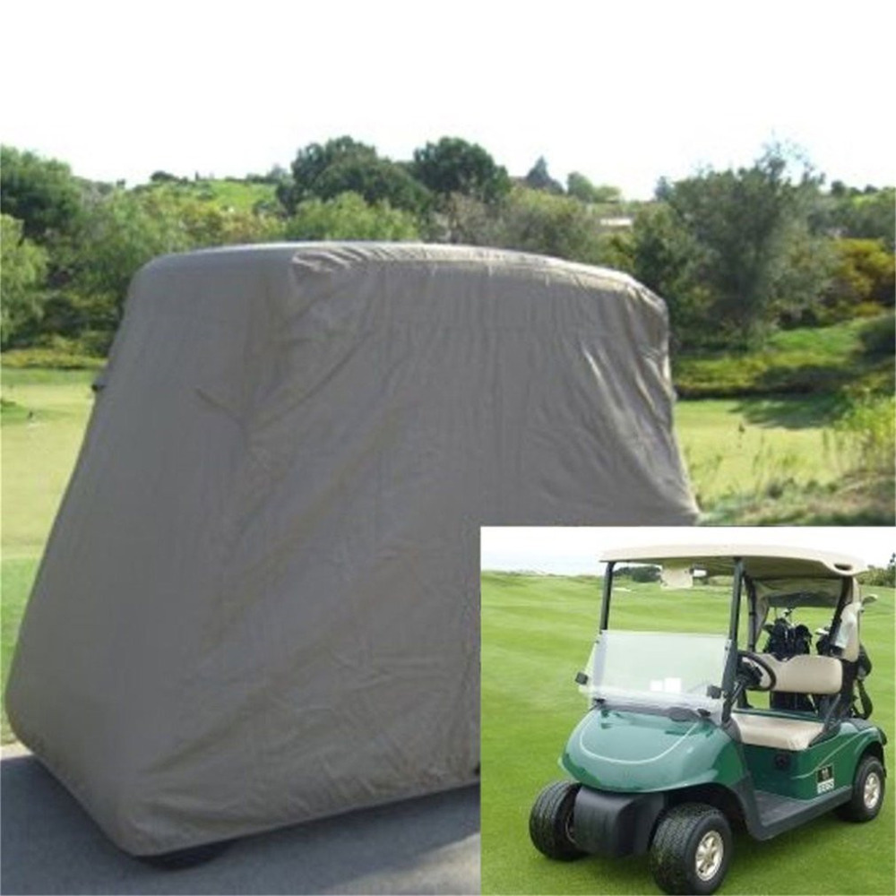 New Waterproof 2 Passengers Car Detector Golf Cart Protect Cover UV Resistant For Two Passenger Car Club Car Khaki