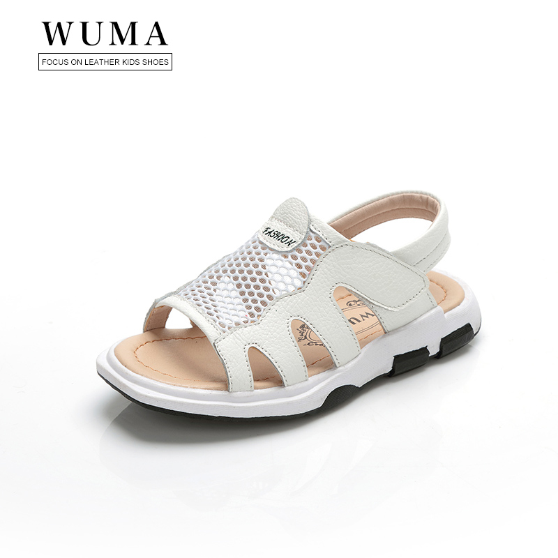d8a135a5b4 WUMA genuine leather kids sandals baby boys summer sandals for kids boys  child orthopedic shoes beach baby boys sandals shoes-in Sandals from Mother  & Kids ...