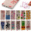 TPU Phone Cases Sumsung S6 Edge S5 Cute PIKA Printing Pattern Clear Back Cover Case for Samsung s7 Edge