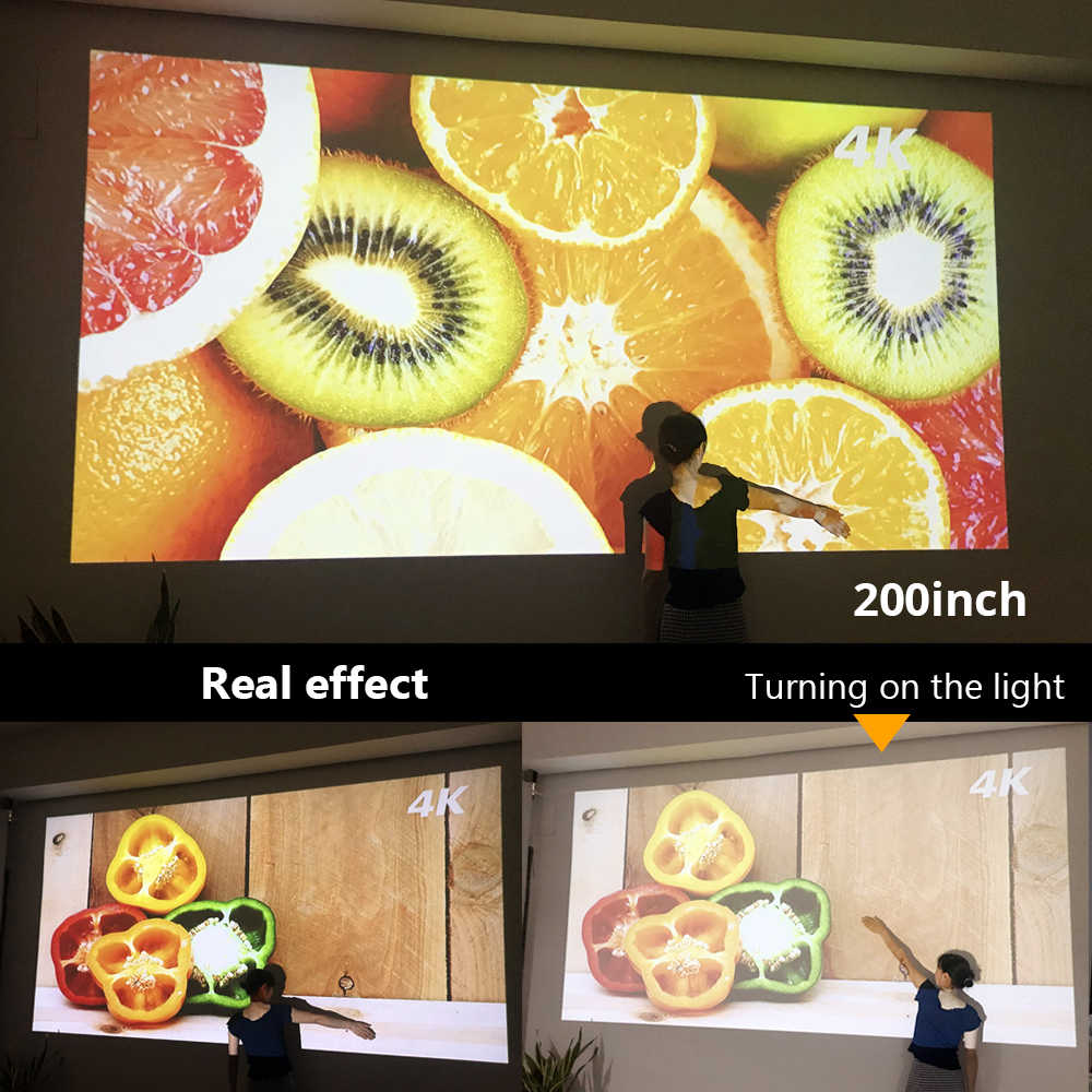 BYINTEK BT96plus LED Smart Android Wifi LED Proyektor Video untuk Full HD 3D 4K 300 Inci Home Theater