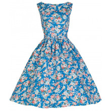 Free shipping 2015 new style summer women sexy vintage 50s retro floral print swing rockabilly dress