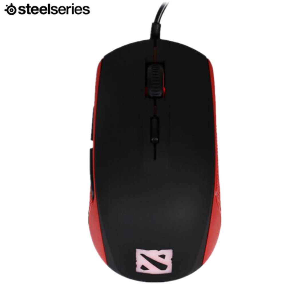 SteelSeries RIVAL 100 dota2 RGB optical wired gaming mouse gaming customized version of LOL / CF мышь steelseries rival 100 proton yellow usb [62340]