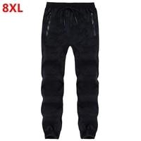 Fall New Men Plus Size Fertilizer Casual Sports Pants Big Size Tide Stretch Waist Big Men