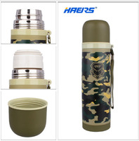 500ML 304 Stainless Steel Keep Insulated Cold Thermos Vacuum Termo Outdoor Water Bottle Pot Amy Green