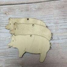 Рождественские украшения в форме свиньи лазерная резка резьба