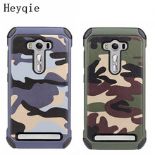 For Asus ZenFone 2 Laser ZE500KL ZE550KL Heyqie Camouflage Style Phone Case For Asus ZenFone 3 ZE552KL ZE520KL / ZD551KL ZC550KL