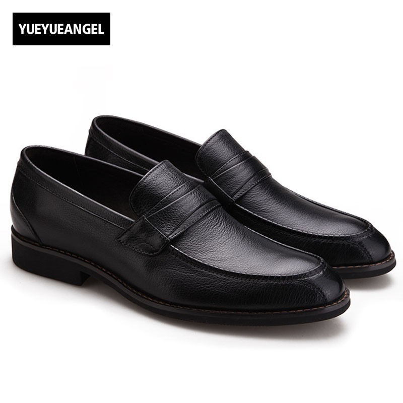 Top Quality Genuine Leather Shoes Men Slip On Loafers Moccasin Hombre Luxruy Soft Office Casual Leather Driving Shoes Footwear