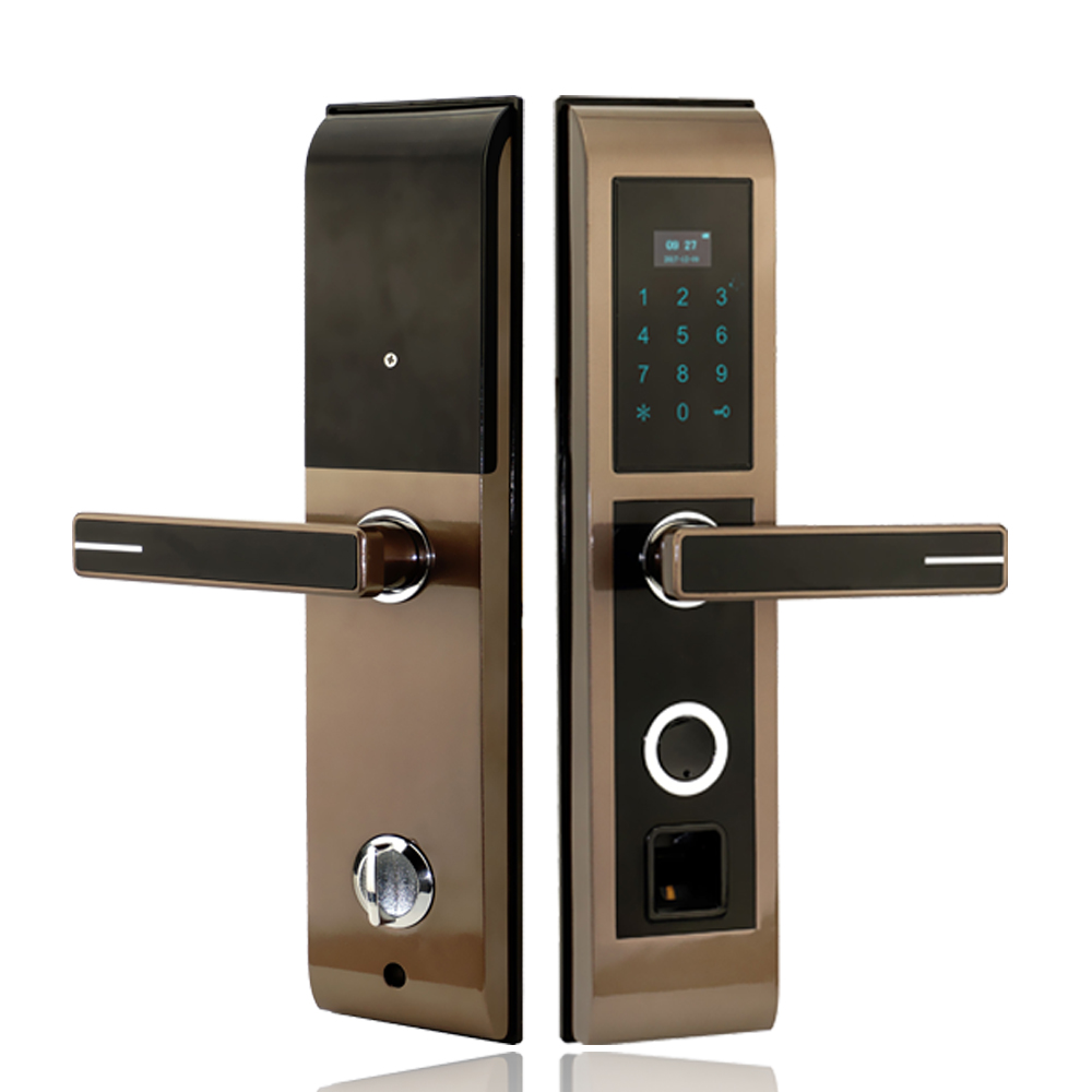 Biometric Smart Fingerprint Lock Digital Touch Screen Keyless Door Lock Fingerprint+Password+M1ID Card+Key Unlocking 4 ways wireless cylinder key locks biometric smart door lock digital electronic touch screen keyless fingerprint scanner door lock