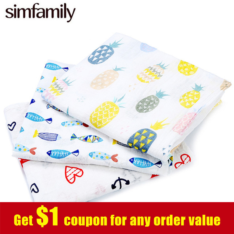 [simfamily]New Arrival 1pc Muslin Cotton Baby Swaddle For Babies Blanket[simfamily]New Arrival 1pc Muslin Cotton Baby Swaddle For Babies Blanket