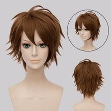 New Arrival Idolish7 Tsunashi Ryunosuke Short Straight Cosplay Wig High Quality Synthetic Hair Anime Costume Party Brown