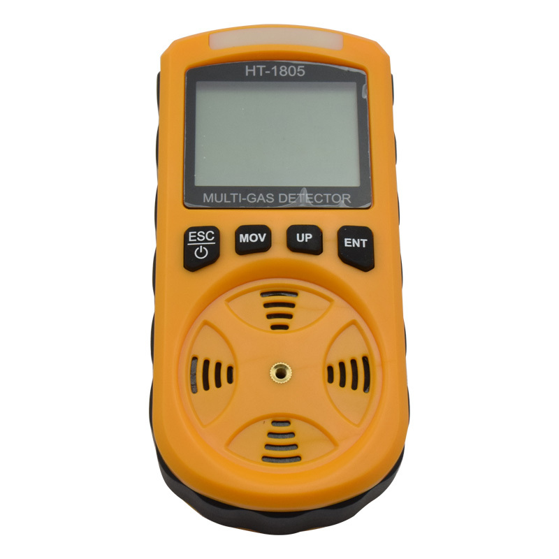 4 in 1 Multi Gas Detector Oxygen O2 Hydrogen Sulfide H2S Carbon Monoxide CO Combustible Gas Analyzer Monitor Gas Leak Detector