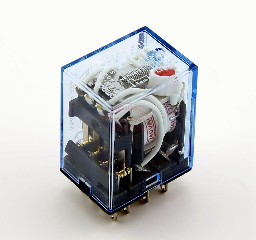 цена на LED MY4 General Purpose Relay 4pdt,14pins relais 12V 24V 110V 220V MY4NJ relay switch