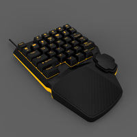AOYEAH One/Single Hand Keyboard Programmable Gaming Mechanical Keyboard 34 keys Mini Keypad for lol PUGB Computer Teclado gamer