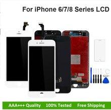 Aaa + + + para iphone 6 6 plus 6 s mais 7 lcd conjunto completo 100% com 3d força tela de toque substituição display nenhum pixel morto