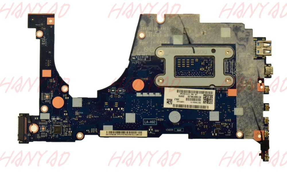 FRU 5B20G55969 For Lenovo YOGA 2 13 Laptop Motherboard LA A921P i3 cpu RAM 4GB in Laptop Motherboard from Computer Office