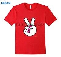 GILDAN Barış Işareti El Pembe Çivi t-shirt