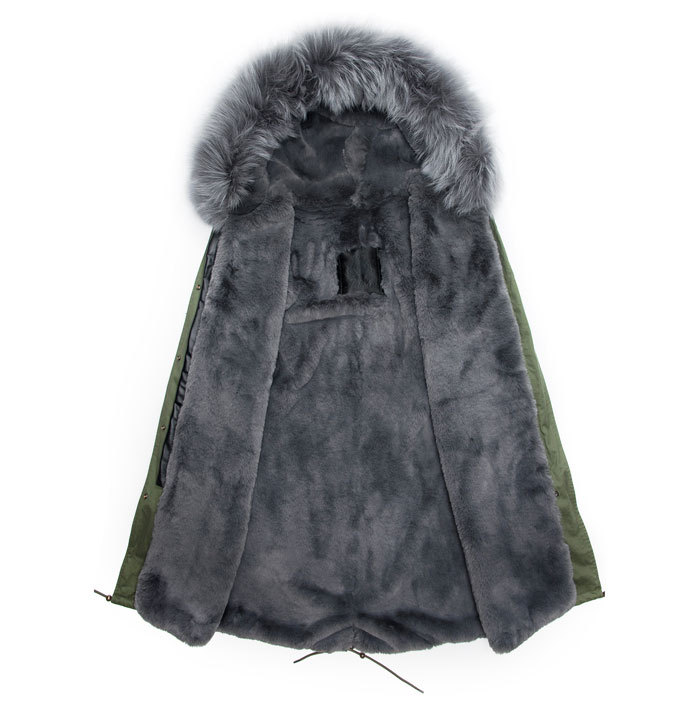 Top qulity Italy design winter male parka long style grey fur ...