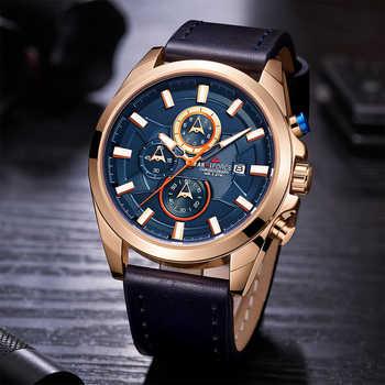 Chronograph Sport Watch Men Quartz Wristwatches Clock Fashion Leather Army Military Watches Hardlex Hour Time Relogio Masculino