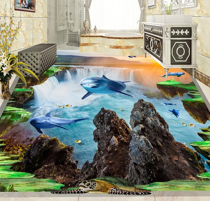 3d flooring wallpaper custom 3d flooring Sea dolphin self adhesive mural wallpaper 3d floor tiles living room 3d floor murals access 3 student s book pre intermediate учебник