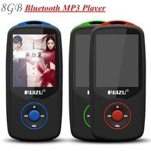 100% Original RUIZU X06 8 GB reproductor de mp3 del Bluetooth de 1.8 Pulgadas 100Hr Sin Pérdidas de Alta Calidad FM Grabadora de Radio Walkman + Free Lanyard