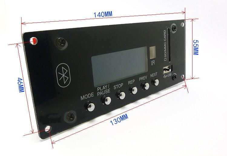 Новые U диск USB SD MMC радио сигнализации 4,0 Bluetooth APE FLAC MP3 WMA WAV-декодер доска 12 В Беспроводной аудио модуль для автомобиля
