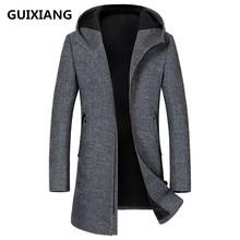 2017 herbst neue art männer hochwertige mode freizeitjacke männer mit kapuze woolen trenchcoat jacken männer mantel windschutz