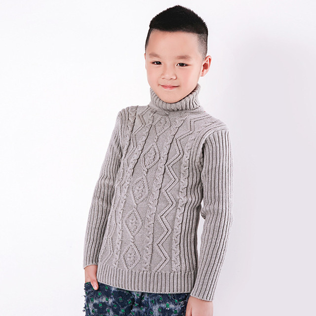 Hight quality Niños Jersey de Cuello Alto Tejer No pilling Crochet ...