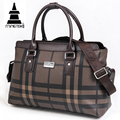 Plaid Travel Duffle Bag Large Capacity Weekend Tote Handbag Hand Luggage Men Women Business PU Waterproof Shoulder Bag Overnight