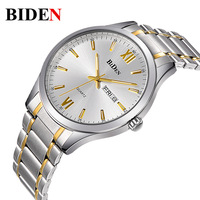 2017 Watches Men Luxury Brand Watch BIDEN 1001 Quartz Digital Men Wristwatches Dive 30m Casual Fashion