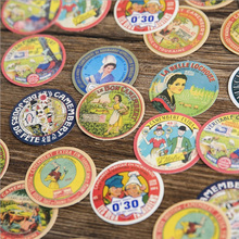 45 pcs/ box Vintage Advertising placard mini paper sticker decoration DIY diary scrapbooking seal kawaii stationery