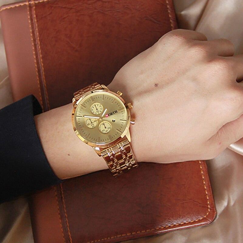 Βόρεια Brand Χρυσό ρολόι ανδρών - Ανδρικά ρολόγια - Φωτογραφία 3
