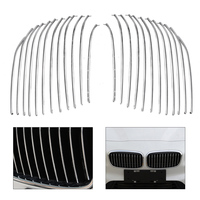 24Pcs Car Styling Chrome ABS Plastic Plated Front Bumper Kidney Hood Grill Grille Cover Trim For