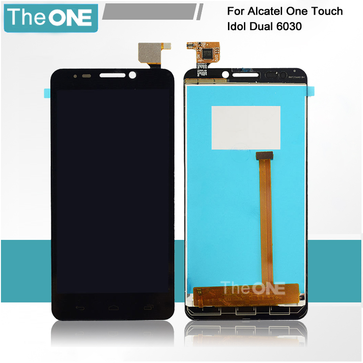 Black LCD Display + Touch Screen Digitizer Assembly FOR Alcatel One Touch Idol 6030 6030D OT6030 OT-6030X OT-6030A Free Shipping