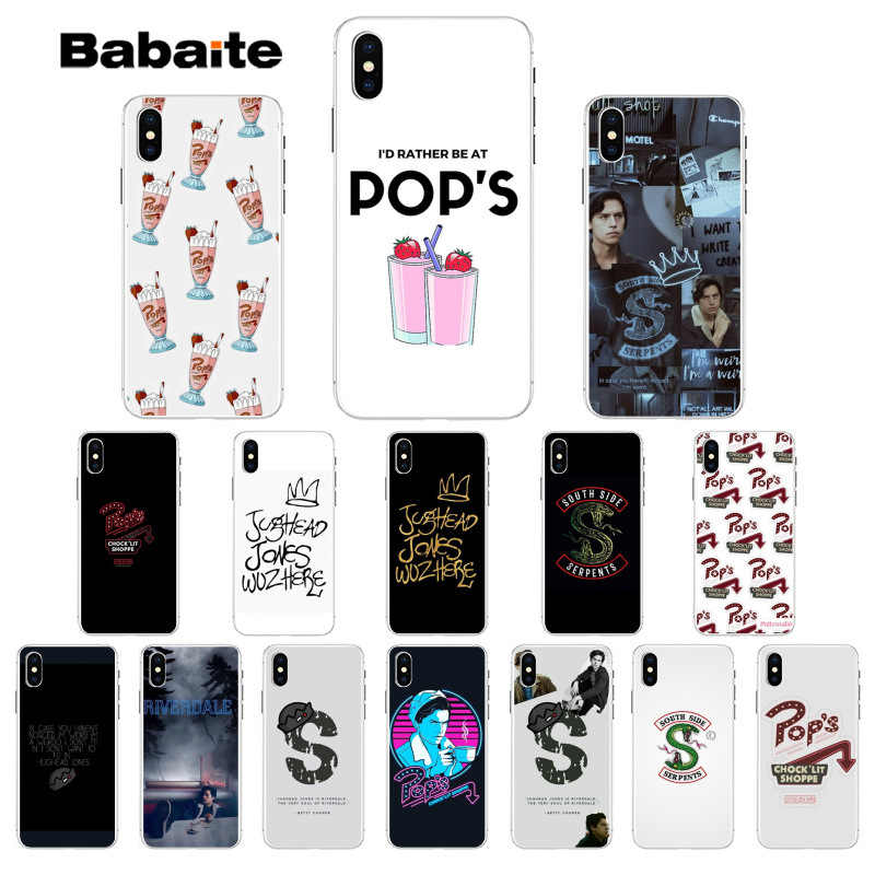 Babaite Riverdale South Side Serpents Soft Phone Case for iPhone 5 5Sx 6 7 7plus 8 8Plus X XS MAX XR