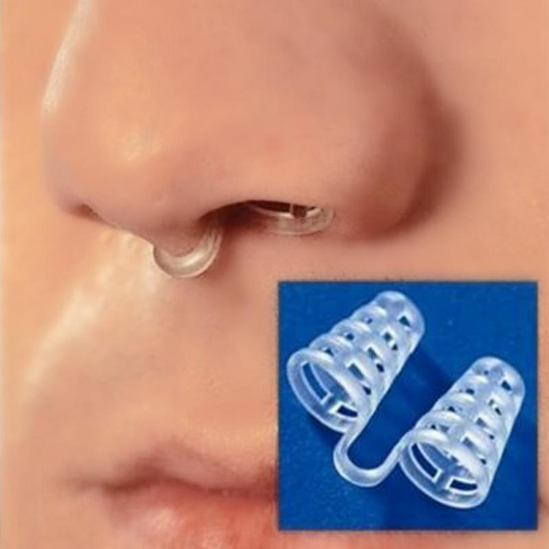 Silicon Anti Snore Ceasing Stopper Anti Snoring Nose Clip Health Sleeping Apnea Nasal Dilator Practical Clamp Stop Snoring